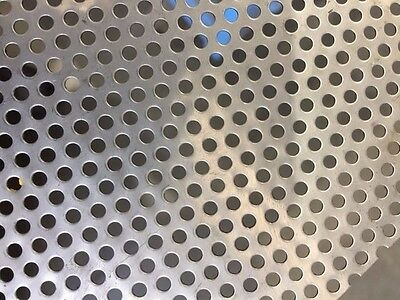 STAINLESS PERFORATED METAL SHEET MESH 380mm X 300mm - 3.25mm ROUND HOLES