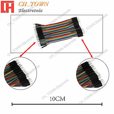 40pcs 10CM Dupont Wire Male to Male Breadboard Jumper Wires Ribbon Cable Arduino