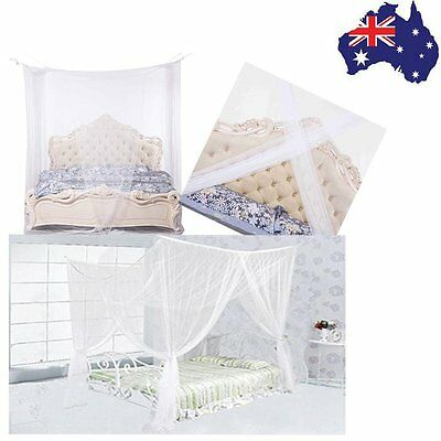 Summer 4 Corner Post Bed Canopy Bed Netting Mosquito Net Full King Size Bedding