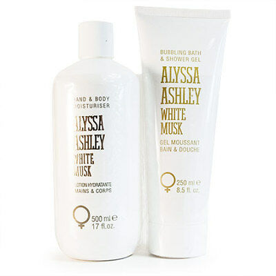 Alyssa Ashley: White Musk Set 500 ml Hand & Bodylotion + 250 ml Bath & S