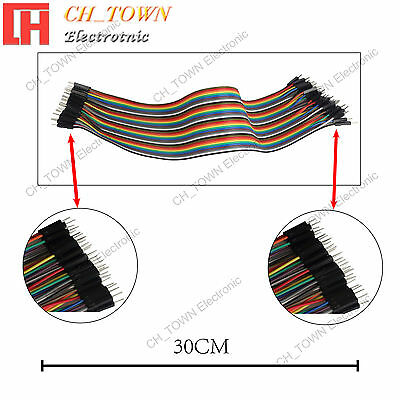 40pcs 30CM Dupont Wire Male to Male Breadboard Jumper Wires Ribbon Cable Arduino