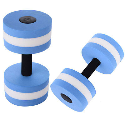 Water Aerobics Dumbbell Medium EVA Aquatic Barbell Aqua Fitness Pool Exercise