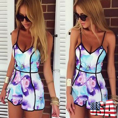 Women Clubwear Playsuit Bodycon Party Jumpsuit Off Shoulder Romper Trousers NEW