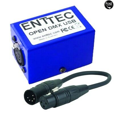 Enttec Open DMX USB Dongle with 5pin to 3pin adapter