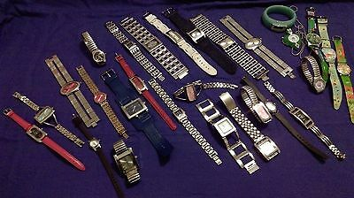 Watches Bulk Lot All Types Ladies All Running Keeping Time.