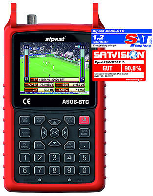Alpsat AS06-STC&AHD KOMBO REAL TIME ANALYZER S2/C/T2 + AHD, NIT, TV PICTURE