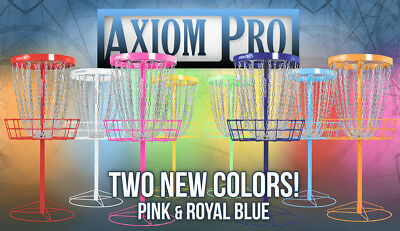 FREE SHIP!!!* NEW Axiom Pro Disc Golf Basket - 24 Chains - Portable - 8 Colors!!