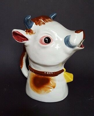 "Vintage 1950's MOO COW Creamer Pitcher Creamer 7"" tall"