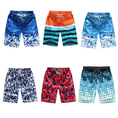 Mens Swimming Board Shorts Trunks Boys Casual Loose Beach Swimwear Short Pants