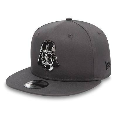 |80489315| Gorra New Era – 9Fifty Star Wars Ess Dart Vader gris 2017 Niños Algod