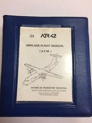 ATR 42 Models 2200-300-320 Oriiginal Flight Manual & American Eagle Supplement