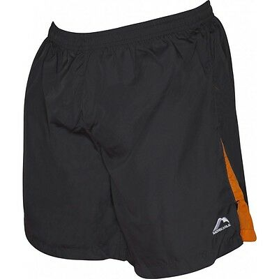 More Mile Mens 7 Inch Baggy Running Gym Fitness Shorts Grey Orange M,l