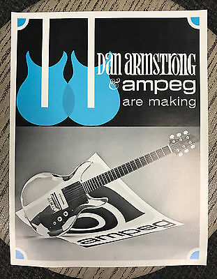 1969 Catalog Ampeg Dan Armstrong 4 Page Full Size Brochure