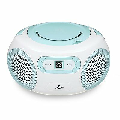 Lava Blue Boombox Portable CD Player with AM / FM Radio + 3.5mm Aux *Refurbished