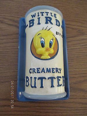 1996 Warner Brothers Looney Tunes Tweety Covered  Butter Dish *