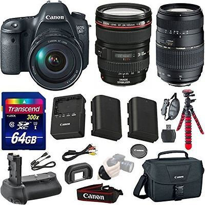 Canon EOS 6D 20.2 MP Full-Frame CMOS Digital SLR Camera Bundle with EF 24-105