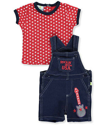 "Duck Duck Goose Baby Boys' ""Rockin' in the USA"" 2-Piece Outfit"