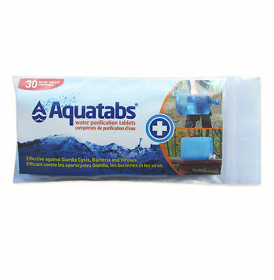 AquaTabs Water Purification Tablets 30 x 20 Litre - Made in Ireland