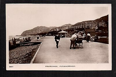 Penmaenmawr Promenade - real photographic postcard