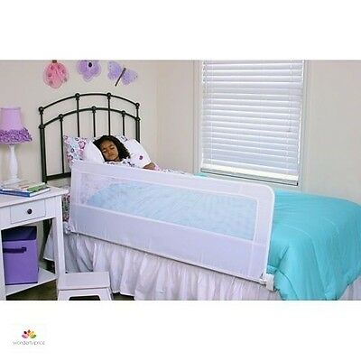 Safety Bedrail Long For Kids Childrens Fold Down Bed Rail Guard Universal White