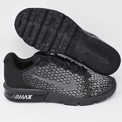 5ff852a4402 NIKE AIR MAX Sequent 2 852461-001 Mens Sneakers Shoes Black   Gray ...