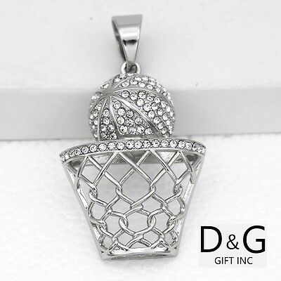 DG Men/'s Silver Stainless Steel 48mm Blade razor CZ Iced-Out Charm Unisex,BOX