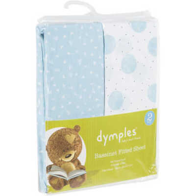 NEW Dymples Cot fitted sheet - Blue