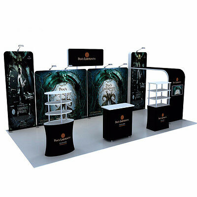 20ft Portable Custom Tension Fabric trade show display system Booth Stand