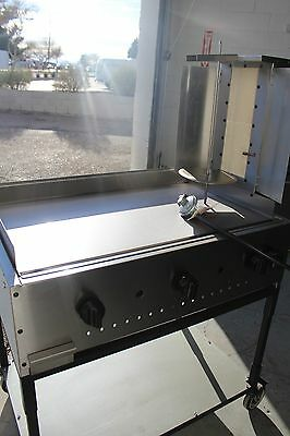 Taco cart, catering cart, taco al pastor, trompo, griddle with vertical broiler