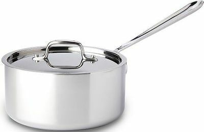 All-Clad 4203 Stainless Steel Tri-Ply Bonded Dishwasher Safe Sauce Pan with Lid