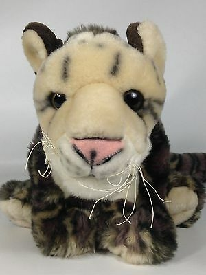 Spotted Leopard Plush Cat Wild Republic WWF Stuffed Animal Baby Cub 2007 Toy