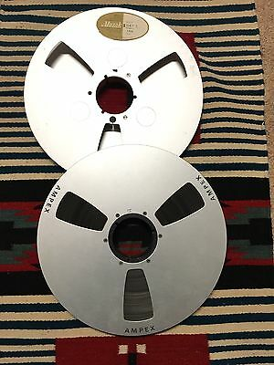 "Ampex Audio 14"" Tape Take Up Reels  Aluminum Reels"