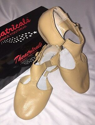 NEW Theatricals #T8900 Leather Grecian Teaching Lyrical Ballet Dance Shoe, TAN