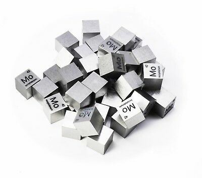 Molybdenum Metal 10mm Density Cube 99.95% Pure for Element Collection