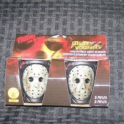 Brand New Friday the 13th Jason Voorhees Shot Glass Set of 2