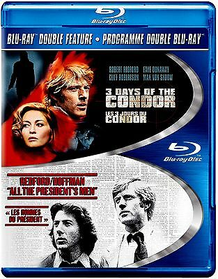 NEW BLU-RAY- ROBERT REDFORD --- 3 DAYS of the CONDOR  +  ALL THE PRESIDENTS MEN
