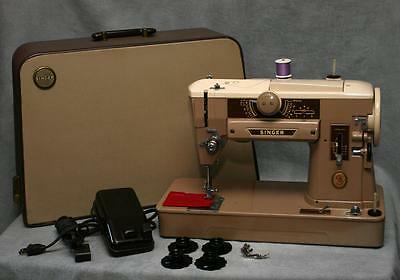 Singer 401A Sewing Machine ~ Fully Serviced 401 w/Case Gear Driven