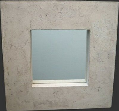 Square Mirror Roman Stone Finish Mirror-EX-DISPLAY