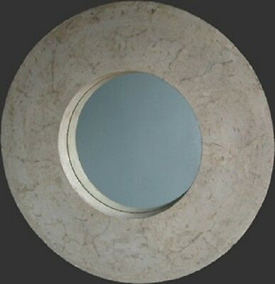 Round Mirror Roman Stone Finish Mirror-EX-DISPLAY