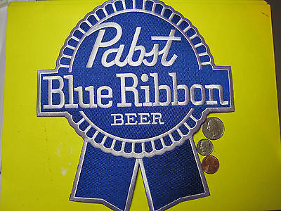 Pabst Blue Ribbon Beer Patch 2Xl Blue Ribbon Cut Out Style Back Size Look & Buy!