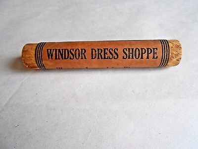 Antique Windsor Dress Shoppe Peekskill Wood Advertising Package Carrying Handle