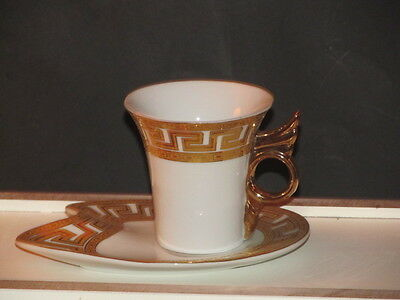 Vintage  NEW JAPAN DESIGN GOLD&RED IMPERIAL CHOCOLATE CUP&SAUCER CHINA A+ MINT