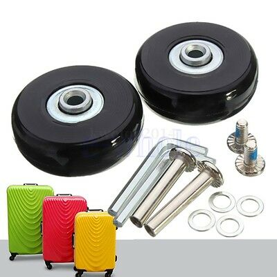 2 Set Luggage Suitcase Replacement Wheels Axles Rubber Deluxe Repair OD 50mm GL
