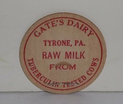 Gates Dairy Tyrone PA Raw Milk Cap From Tuberculin Tested Cows
