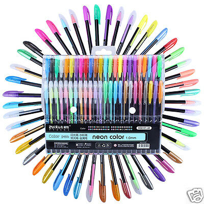 12/18/24/36/48 Colors 1Set Neon Color Glitter Pen Refills Non-toxic Drawing Pens