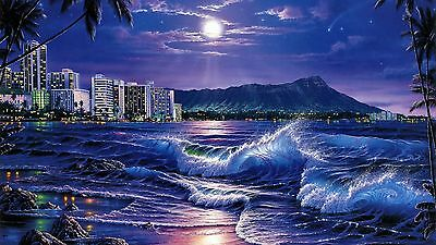 Beach sea life waves peer  canvas wall home Decor quality Picture choose size