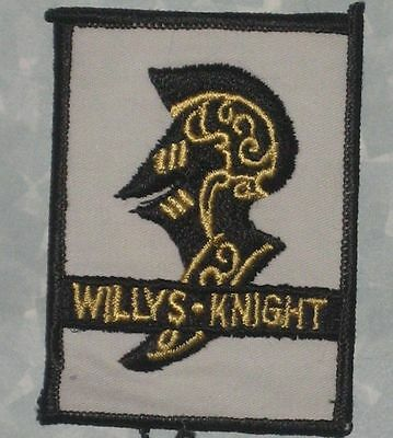 """Willys-Knight Patch - 2 1/2"""" x 3 3/8""""  - classic automobile"""
