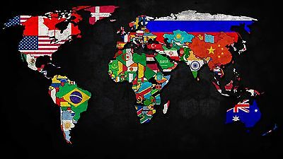 Creative Map of the World canvas wall home Decor quality Picture choose size