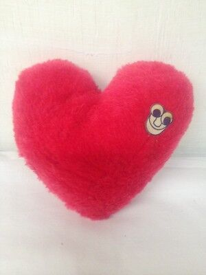 "Red Heart With Silly Face Vintage 1985 6"" Acme Plush Stuffed"