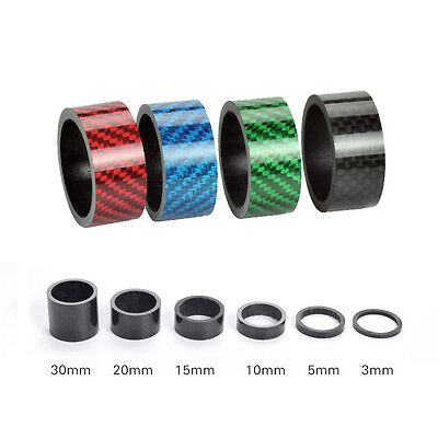 Lot Carbon Bicycle Washers Headset Spacer 28.6 mm 1-1/8'' For Road Bike MTB Stem
